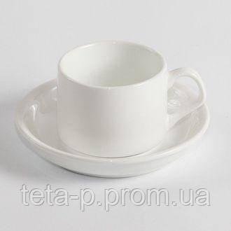 Чашка с блюдечком для кофе