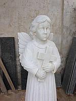 Скульптура ангела с крестом, фото 1