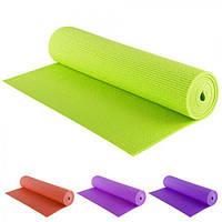 Коврик для йоги 6 мм 60*173 см зеленый  ( коврик каремат )