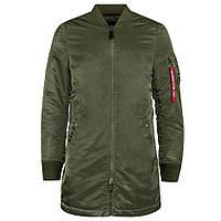 Удлиненная демисезонная куртка MA-1 Long Flight Jacket. Alpha Industries
