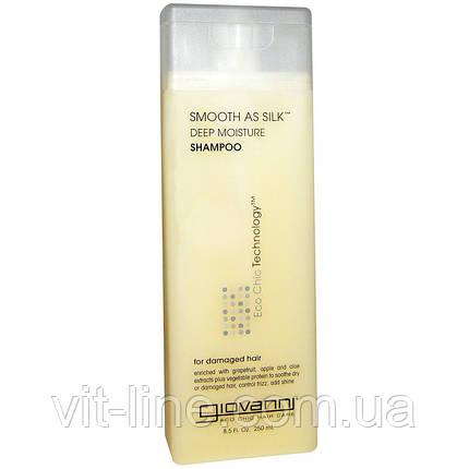 Giovanni, Шампунь для интенсивного увлажнения и разглаживания волос,(250 мл), фото 2