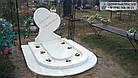 Памятник ребенку из белого мрамора в виде сердца, фото 2