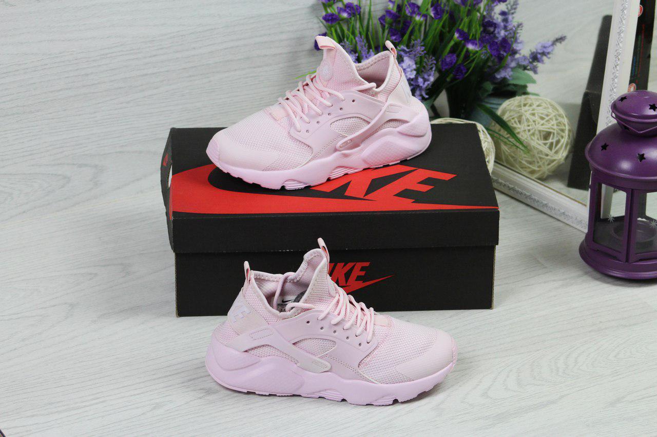 eecf8cf2 Розовые женские кроссовки Nike Huarache, из сетки (Реплика) - Интернет-магазин