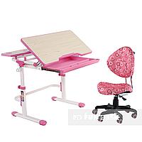 Комплект растущая парта Lavoro L Pink + детское ортопедическое кресло SST5 Pink FunDesk