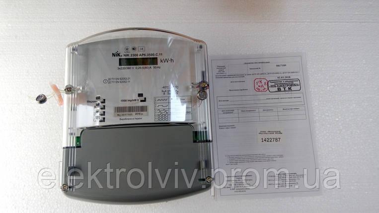 Электросчетчик 3-фазный НИК 2300 АР6, фото 2