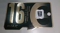 Карта памяти micro SD 16 GB iMAX, Class 10
