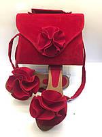 Комплект сумка + шлепанцы (красный) Турция