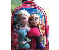 """Школьный 3D рюкзак для девочки """"Frozen"""" розовый"""