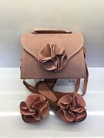 Комплект сумка + шлепанцы (пудра) Турция