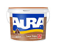 Декоративно-защитное средство Aura Lasur Aqua 2,5л (Каштан)