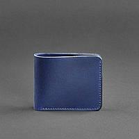 Купюрник кожаный мужской карты синий (ручная работа), фото 1