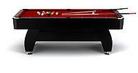 Бильярдный стол VIP Extra 8FT black-red