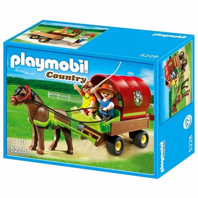Playmobil 5228 Возик і поні (Плеймобил конструктор Повозка и пони)