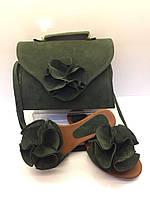 Комплект сумка + шлепанцы (зеленый) Турция