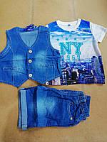 Набор-тройка джинсовый для мальчиков S&D 1-5 лет
