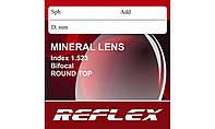 Линзы минеральные Минеральная бифокальная линза Reflex БСС с круглой зоной для близи. Индекс 1,523