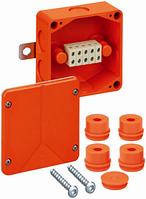 Огнестойкая распределительная коробка Spelsberg WKE 2 - 5x6², Р30/Р60/Р90; входы: 1хМ20, 5хМ25; sp86050201