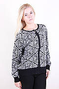 Стильный женский свитер большого размера