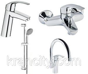 Набір змішувачів для ванни+кухня 4в1 (23324001+33300002+27926000+33202002) GROHE EUROSMART 123248 MK