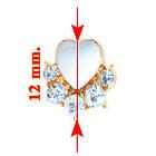 Жіночі Сережки Гвоздики з Камінням Кольорові Сердечка зі Стразами, Упаковкою на 12 пар, Біжутерія, фото 2