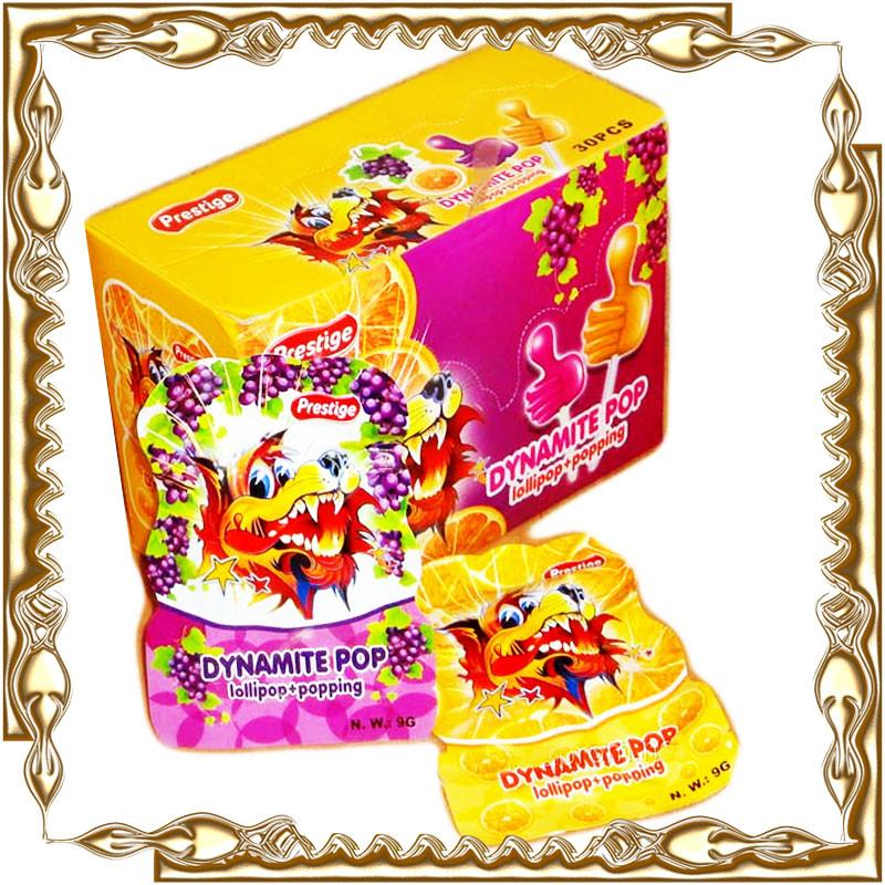 Шипуча карамель+ цукерка на паличці Dynamite Pop 30 шт.