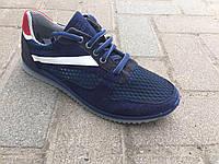Кроссовки мужские сетка синие Даго, фото 1