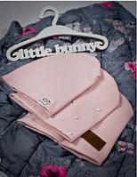 Детская трикотажная шапка розового цвета