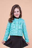 Стильная демисезонная короткая курточка весна-осень для девочки 32, 34, 36, 38, 40 р.Детская верхняя одежда!