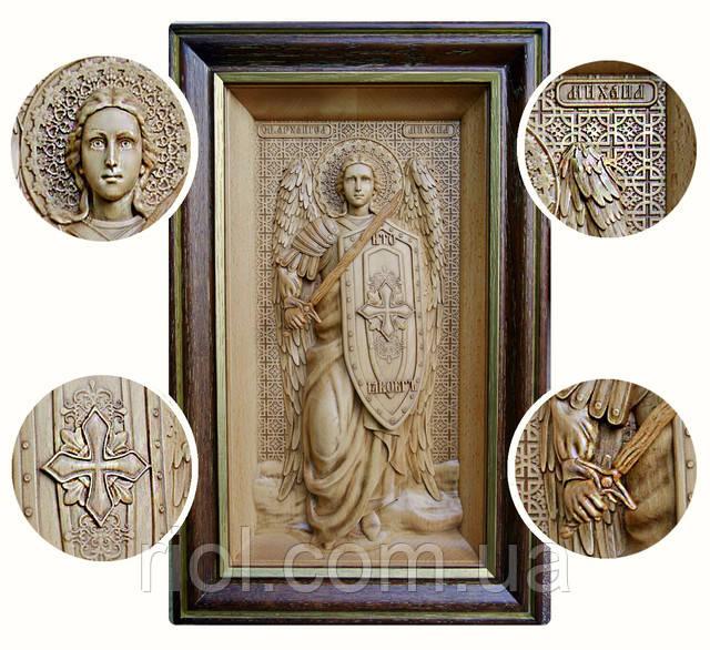 икона резная архангела михаила