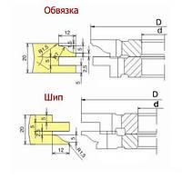 Фрезы для изготовления мебельных фасадов с термошвом 02-24 (3 фрезы)