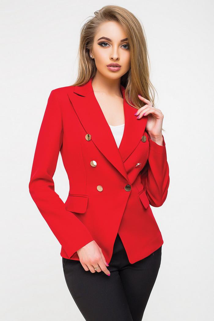 828abc6ac4b5 Жакет 7051, женский пиджак, красный пиджак, дропшиппинг  продажа ...