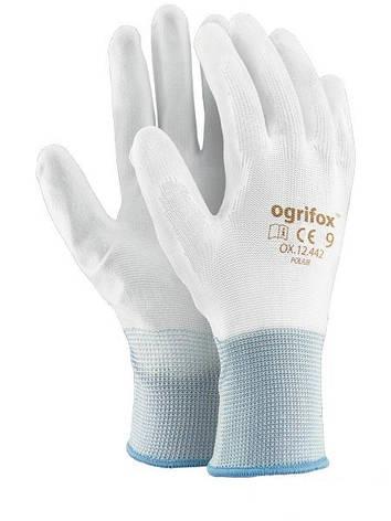 """Перчатки рабочие стрейчевая покрытая гладким нитрилом """"OX-Poliur"""" (Reiss), фото 2"""