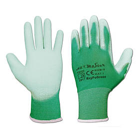 """Перчатки рабочие с полиуретановым покрытие """"Rnypu Green"""" (Польша)"""