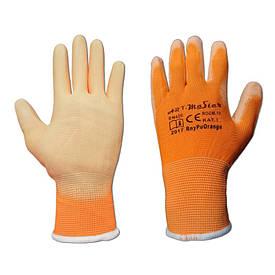 """Перчатки рабочие с полиуретановым покрытие """"Rnypu Orange"""" (Польша)"""
