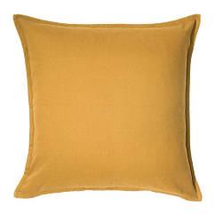 Чехол на подушку IKEA GURLI 50x50 см золотисто-желтый 203.958.21