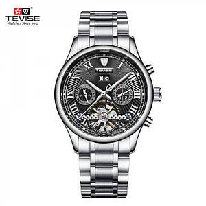 Часы мужские механические Tevise Business Black