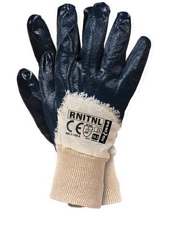 """Перчатки рабочие нитрил синий """"RNITNL 10.5"""" (Reis), фото 2"""