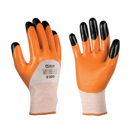 Перчатки рабочие стрейчевая покрытая двойным нитрилом, фото 2