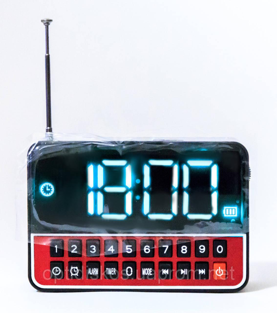 Портативная колонка WS-1513 (Часы, USB, micro sd, FM)