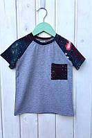 Детская футболка на мальчика рр 92-116 Код до298