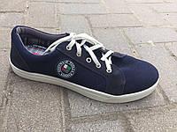 Кеды на шнуровке мужские синие  Паолла