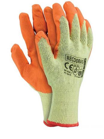"""Перчатки рабочие х/б покрытая вспененным латексом """"RECODRAG"""" (Reis), фото 2"""