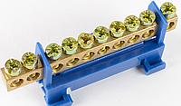 Нульова шина CNC 6*9 з ізолятором 63А на DIN-рейку