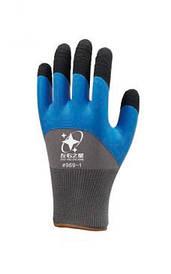 Перчатки рабочие стрейчевая покрытая силиконом с двойным обливом на пальцах #969