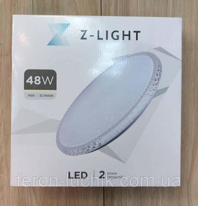 Led светильник Z-Light 70006 48w с управлением (аналог Feron AL5300)