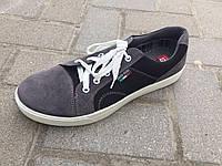 Кеды на шнуровке мужские черные с серым  Paolla, фото 1