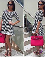 Платье в полоску, низ прошва, фото 1