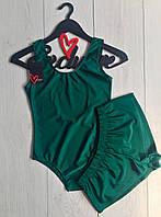 Купальник боди и шорты, пляжная одежда.