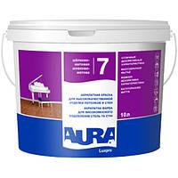 Интерьерная акрилатная краска для потолков и стен Aura Luxpro 7 (шелково-матовая) 10л., моющаяся