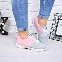 Кроссовки женские So Sport серые+розовый текстиль, фото 1